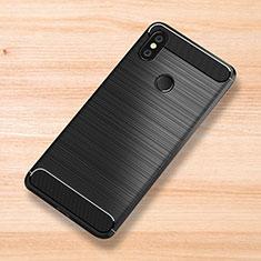 Custodia Silicone Cover Morbida Spigato per Xiaomi Mi Mix 3 Nero