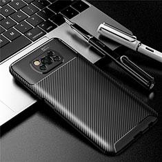 Custodia Silicone Cover Morbida Spigato per Xiaomi Poco X3 NFC Nero