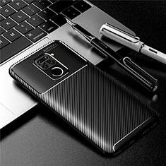 Custodia Silicone Cover Morbida Spigato per Xiaomi Redmi 10X 4G Nero