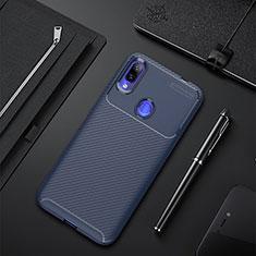 Custodia Silicone Cover Morbida Spigato per Xiaomi Redmi 7 Blu