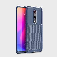 Custodia Silicone Cover Morbida Spigato per Xiaomi Redmi K20 Blu