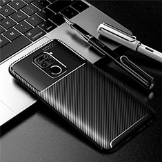 Custodia Silicone Cover Morbida Spigato per Xiaomi Redmi Note 9 Nero