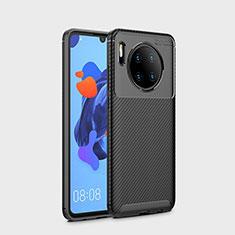 Custodia Silicone Cover Morbida Spigato S01 per Huawei Mate 30 Nero