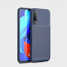 Custodia Silicone Cover Morbida Spigato S01 per Huawei Nova 5 Blu
