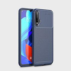 Custodia Silicone Cover Morbida Spigato S01 per Huawei Nova 5 Pro Blu