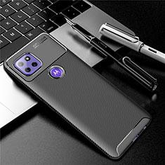 Custodia Silicone Cover Morbida Spigato S01 per Motorola Moto G 5G Nero