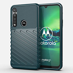Custodia Silicone Cover Morbida Spigato S01 per Motorola Moto G8 Plus Verde