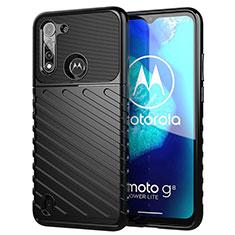Custodia Silicone Cover Morbida Spigato S01 per Motorola Moto G8 Power Lite Nero