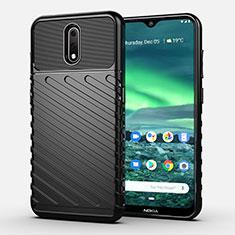 Custodia Silicone Cover Morbida Spigato S01 per Nokia 2.3 Nero