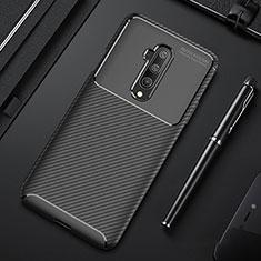 Custodia Silicone Cover Morbida Spigato S01 per OnePlus 7T Pro 5G Nero