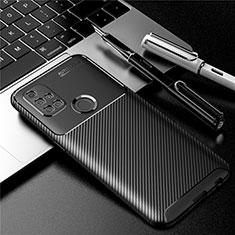Custodia Silicone Cover Morbida Spigato S01 per OnePlus Nord N10 5G Nero