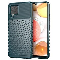 Custodia Silicone Cover Morbida Spigato S01 per Samsung Galaxy A42 5G Verde Notte