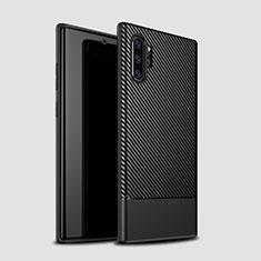 Custodia Silicone Cover Morbida Spigato S01 per Samsung Galaxy Note 10 Plus Nero