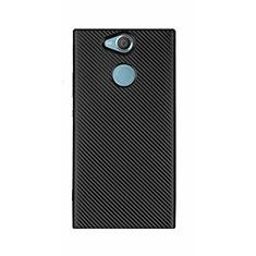 Custodia Silicone Cover Morbida Spigato S01 per Sony Xperia XA2 Ultra Nero