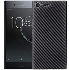 Custodia Silicone Cover Morbida Spigato S01 per Sony Xperia XZ1 Compact Nero