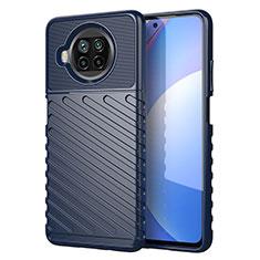 Custodia Silicone Cover Morbida Spigato S01 per Xiaomi Mi 10T Lite 5G Blu