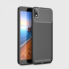 Custodia Silicone Cover Morbida Spigato S01 per Xiaomi Redmi 7A Nero