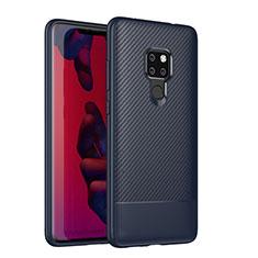Custodia Silicone Cover Morbida Spigato S04 per Huawei Mate 20 Blu