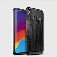 Custodia Silicone Cover Morbida Spigato T01 per Huawei Honor 8X Nero