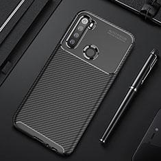 Custodia Silicone Cover Morbida Spigato Y01 per Xiaomi Redmi Note 8 Nero