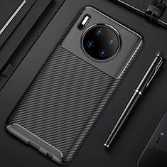 Custodia Silicone Cover Morbida Spigato Y02 per Huawei Mate 30 5G Nero