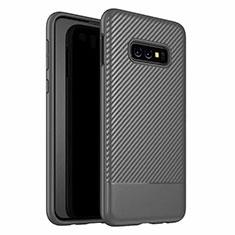 Custodia Silicone Cover Morbida Spigato Y02 per Samsung Galaxy S10e Nero