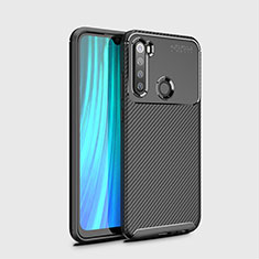 Custodia Silicone Cover Morbida Spigato Y02 per Xiaomi Redmi Note 8 Nero