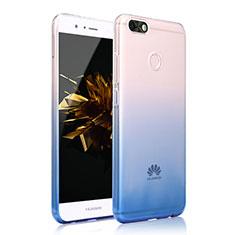 Custodia Silicone Cover Trasparente Ultra Sottile Morbida Sfumato per Huawei Y6 Pro (2017) Blu