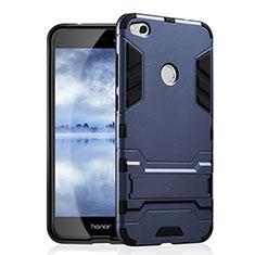 Custodia Silicone e Plastica Opaca con Supporto per Huawei Honor 8 Lite Blu