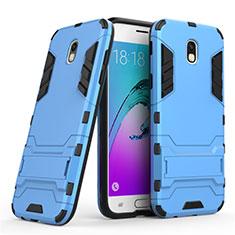 Custodia Silicone e Plastica Opaca con Supporto per Samsung Galaxy J5 (2017) SM-J750F Blu