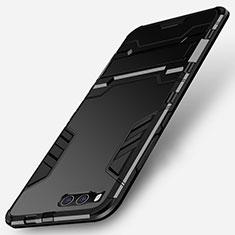 Custodia Silicone e Plastica Opaca con Supporto per Xiaomi Mi Note 3 Nero