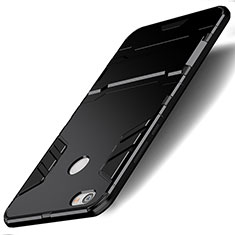 Custodia Silicone e Plastica Opaca con Supporto per Xiaomi Redmi Note 5A Prime Nero