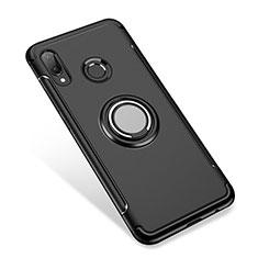 Custodia Silicone e Plastica Opaca Cover con Anello Supporto per Huawei Nova 3i Nero