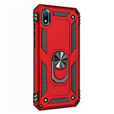 Custodia Silicone e Plastica Opaca Cover con Magnetico Anello Supporto per Huawei Enjoy 8S Rosso