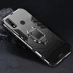 Custodia Silicone e Plastica Opaca Cover con Magnetico Anello Supporto per Huawei Y8s Nero