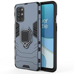 Custodia Silicone e Plastica Opaca Cover con Magnetico Anello Supporto per OnePlus 8T 5G Blu