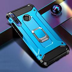 Custodia Silicone e Plastica Opaca Cover con Magnetico Supporto K01 per Huawei Honor 20 Lite Blu