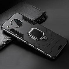 Custodia Silicone e Plastica Opaca Cover con Magnetico Supporto per Huawei Mate 30 5G Nero