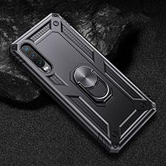 Custodia Silicone e Plastica Opaca Cover con Magnetico Supporto per Huawei P30 Nero