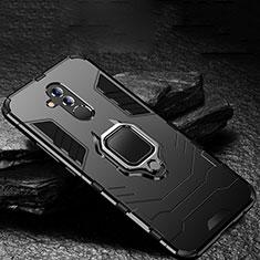 Custodia Silicone e Plastica Opaca Cover con Supporto A01 per Huawei Mate 20 Lite Nero
