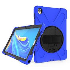 Custodia Silicone e Plastica Opaca Cover con Supporto A01 per Huawei MatePad 10.8 Blu