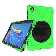 Custodia Silicone e Plastica Opaca Cover con Supporto A01 per Huawei MatePad 10.8 Verde