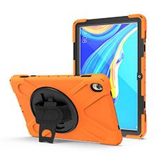 Custodia Silicone e Plastica Opaca Cover con Supporto A01 per Huawei MediaPad M6 10.8 Arancione