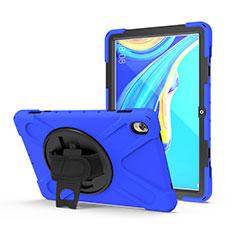 Custodia Silicone e Plastica Opaca Cover con Supporto A01 per Huawei MediaPad M6 10.8 Blu