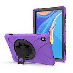 Custodia Silicone e Plastica Opaca Cover con Supporto A01 per Huawei MediaPad M6 10.8 Viola
