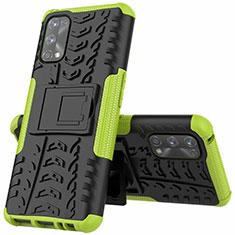 Custodia Silicone e Plastica Opaca Cover con Supporto A01 per Realme 7 Pro Verde