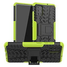 Custodia Silicone e Plastica Opaca Cover con Supporto A01 per Samsung Galaxy A51 5G Verde