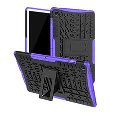 Custodia Silicone e Plastica Opaca Cover con Supporto A01 per Samsung Galaxy Tab S5e 4G 10.5 SM-T725 Viola