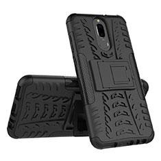Custodia Silicone e Plastica Opaca Cover con Supporto A02 per Huawei G10 Nero