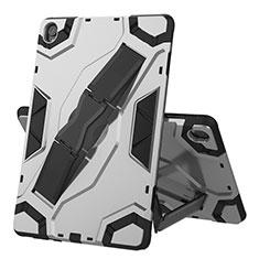 Custodia Silicone e Plastica Opaca Cover con Supporto A02 per Huawei MediaPad M6 10.8 Argento